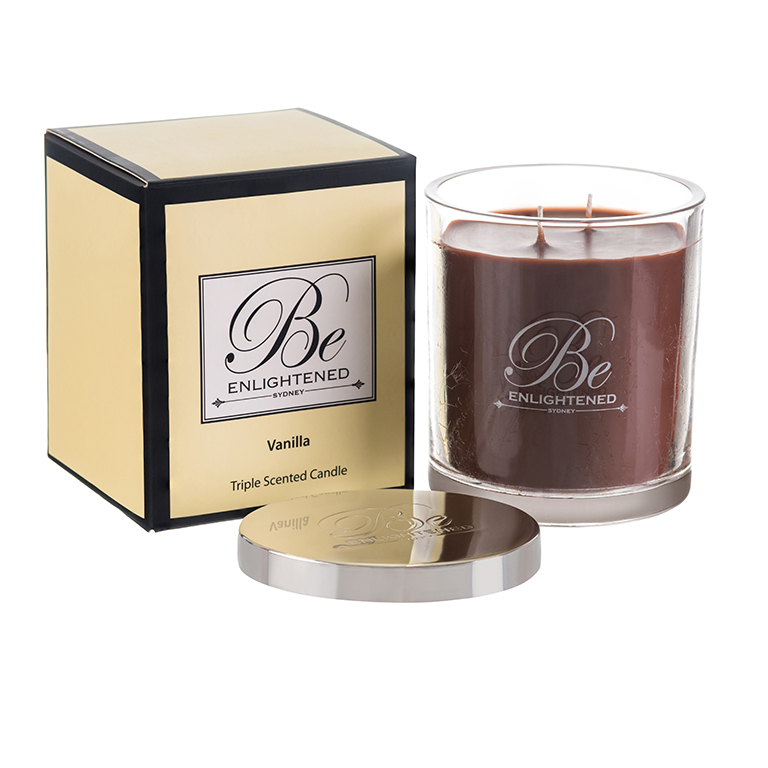 Vanilla Candle 400g Vanilla fragrance scented candle Australian Made