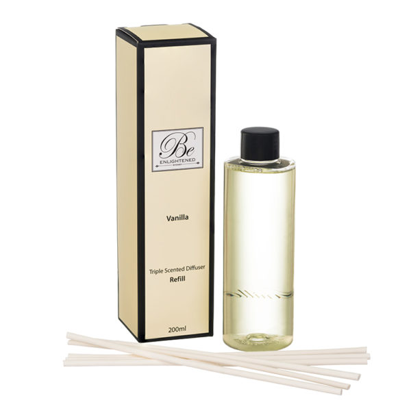 Vanilla diffuser refill 200ml. Natural fragrant and essential oil. Australian made