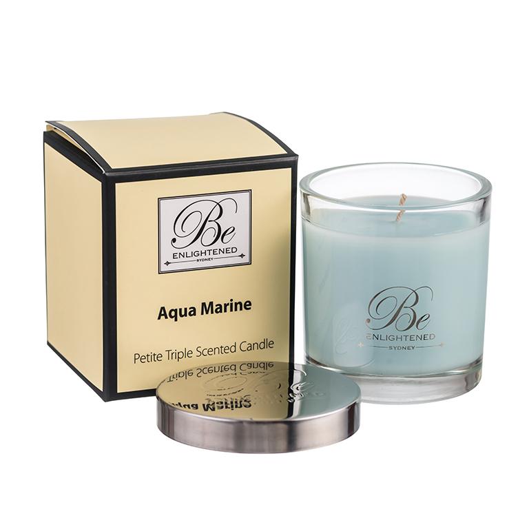 Scented Candles Australia Be Enlightened Aquamarine 100g