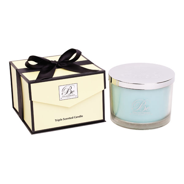 Be Enlightened Aquamarine 6 Wick Candle