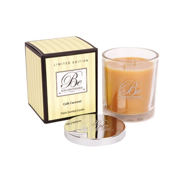 Cafe Caramel candle 400g - triple scented candles - Be Enlightened