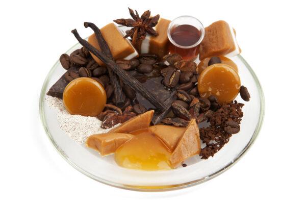 Cafe Caramel Fragrance image on a plate Be Enlightened