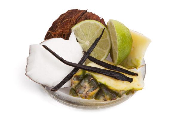 Tropical Coconut fragrance on a plate