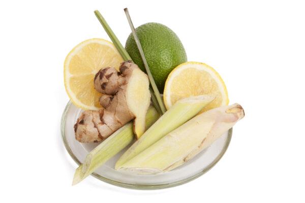 Be Enlightened Lemongrass fragrance plate