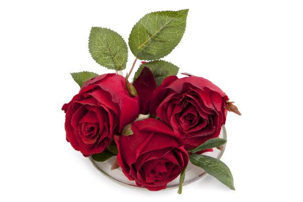 Red Roses Fragrance Plate Be Enlightened.