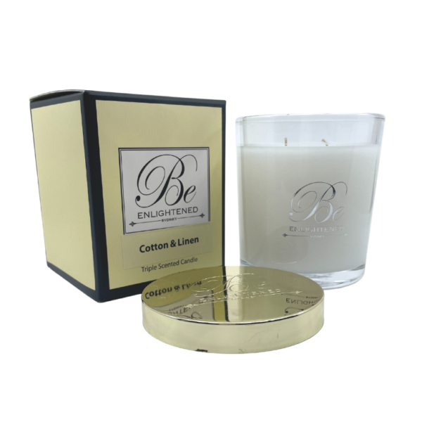 Cotton & Linen Candle Be Enlightened Australian Made Scented Candles