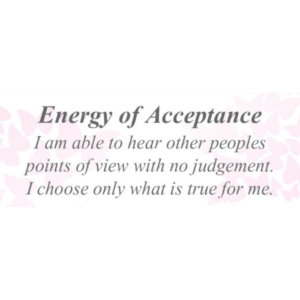 Energy of Acceptance