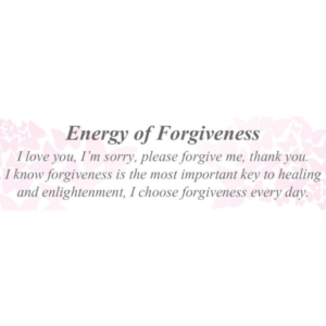 Energy of Forgiveness