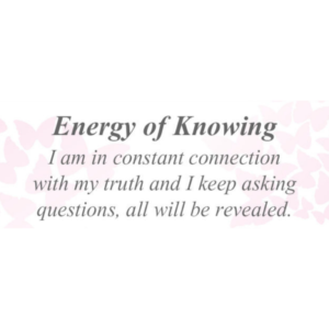 Energy of Knowing