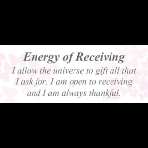 Energy of Receiving
