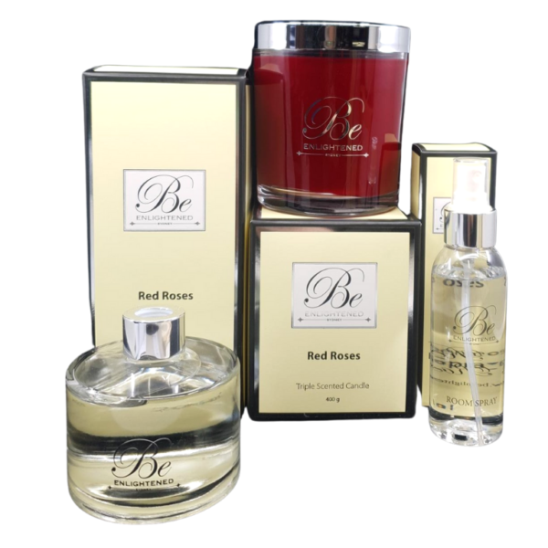 Red Roses Elegant Candle Pack