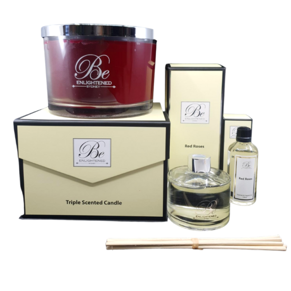 Red Roses Luxury Candle, Diffuser & Oil Pack