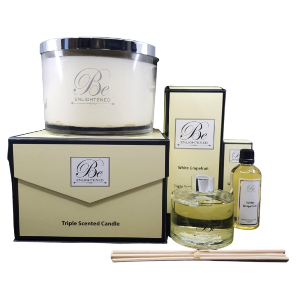 White Grapefruit Luxury Candle, Diffuser & Oil Pack