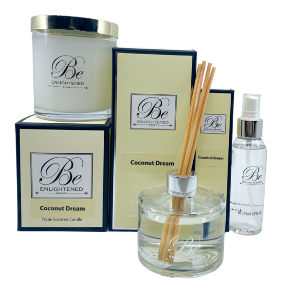 Coconut Dream Candle, Diffuser & Room Spray Pack