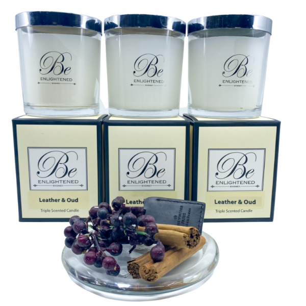 Leather & Oud 3 Pack Candles