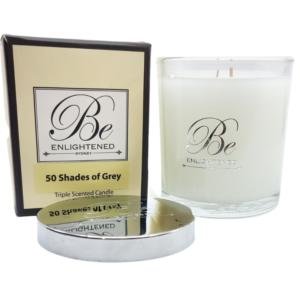 50 Shades of Grey Elegant Candle